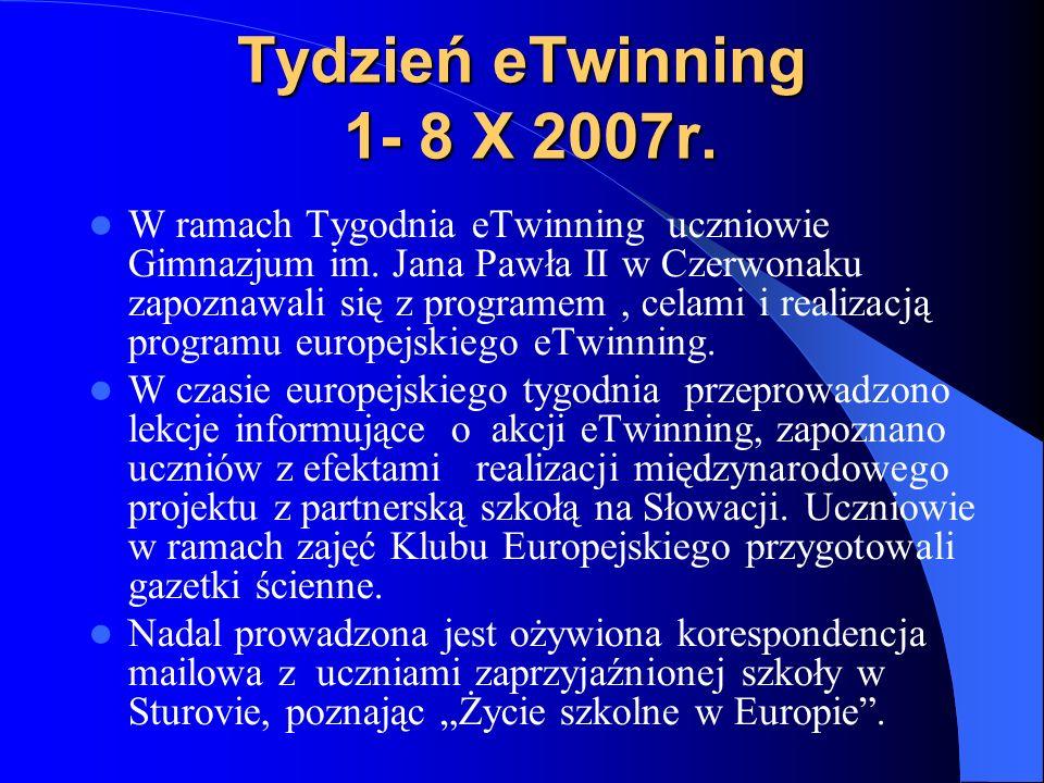 Dlaczego eTwinning? Dla gimnazjalistów niewątpliwą korzyścią jest ciągłe doskonalenie znajomości języków obcych, szczególnie języka niemieckiego i ang