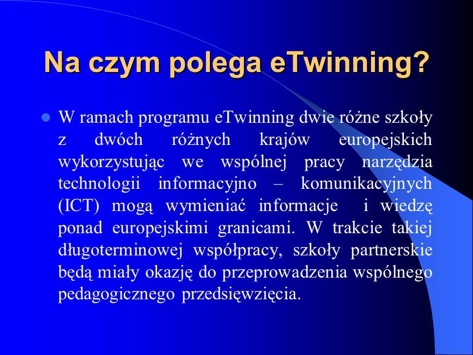 Jak powstał eTwinning? Akcja eTwinning została oficjalnie zainaugurowana przez Komisję Europejską na początku 2005 roku. Program powstał, by dać szkoł