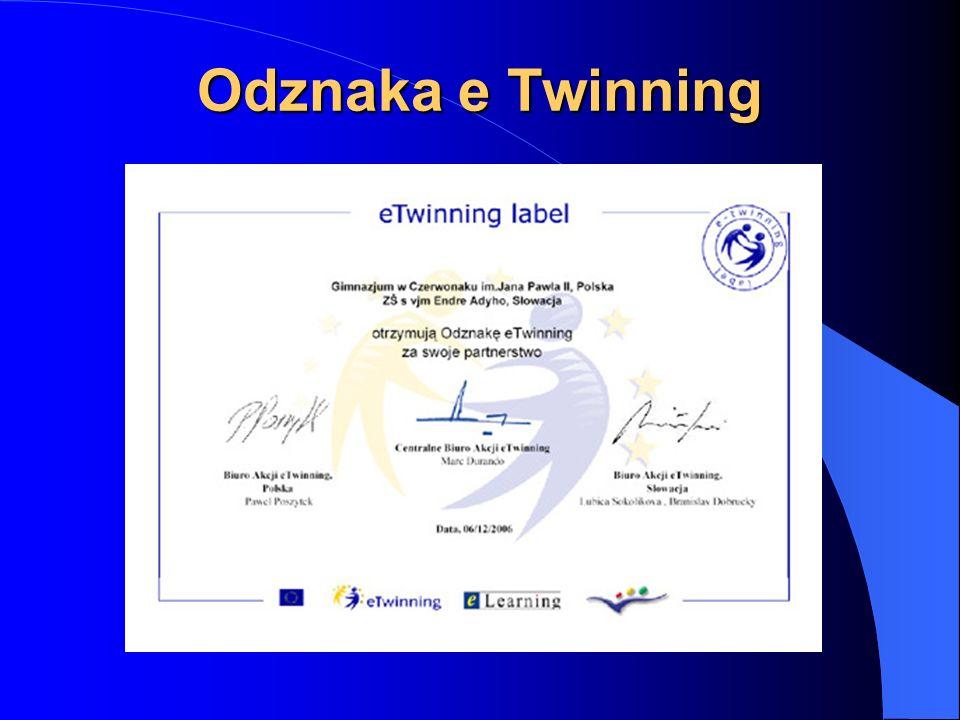 eTwinning w Gimnazjum w Czerwonaku 6 grudnia 2006 roku Europejskie Partnerstwo Szkół zaakceptowało międzynarodową współpracę: Gimnazjum w Czerwonaku i