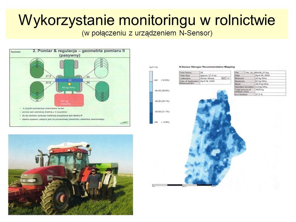 Wykorzystanie monitoringu w rolnictwie (w połączeniu z urządzeniem N-Sensor)
