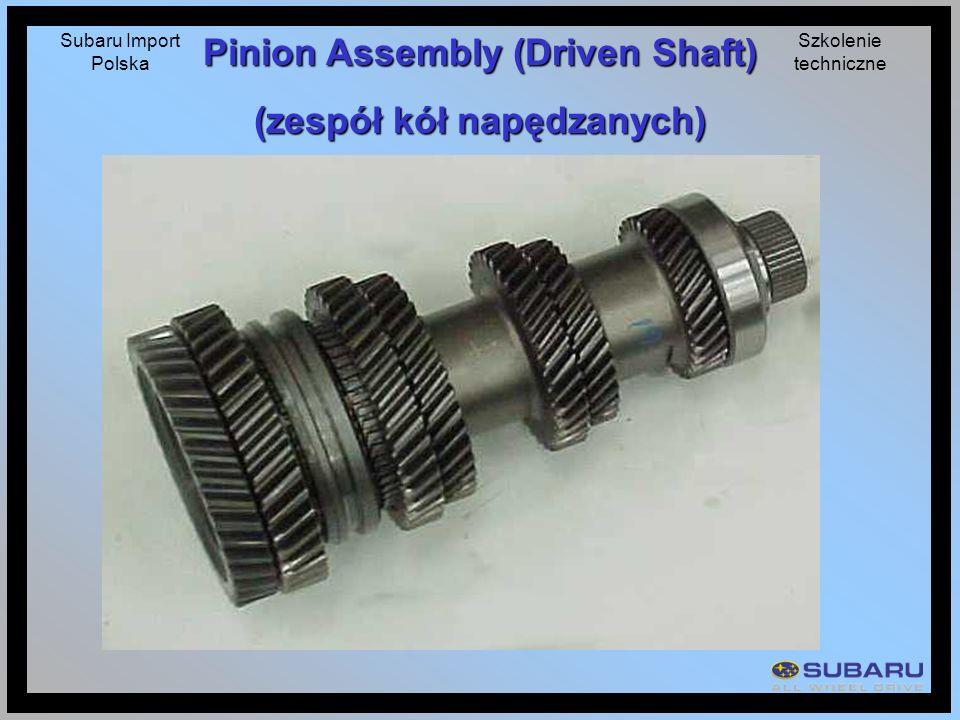 Subaru Import Polska Szkolenie techniczne Pinion Assembly (Driven Shaft) (zespół kół napędzanych)