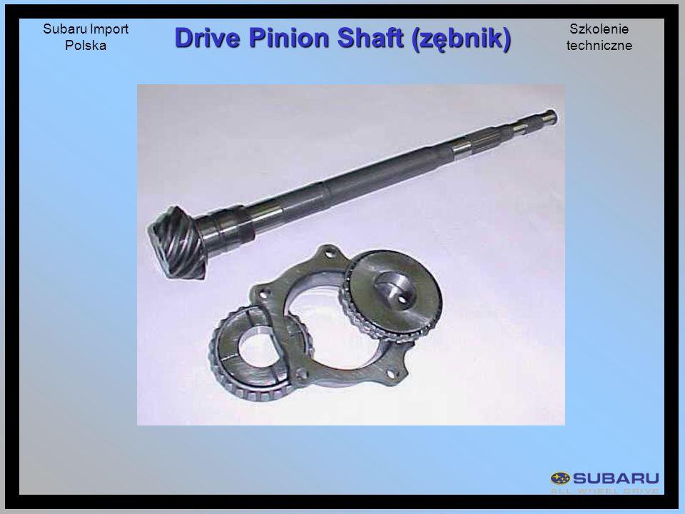 Subaru Import Polska Szkolenie techniczne Drive Pinion Shaft (zębnik)