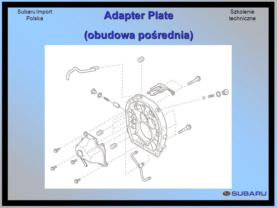 Subaru Import Polska Szkolenie techniczne Adapter Plate (obudowa pośrednia)