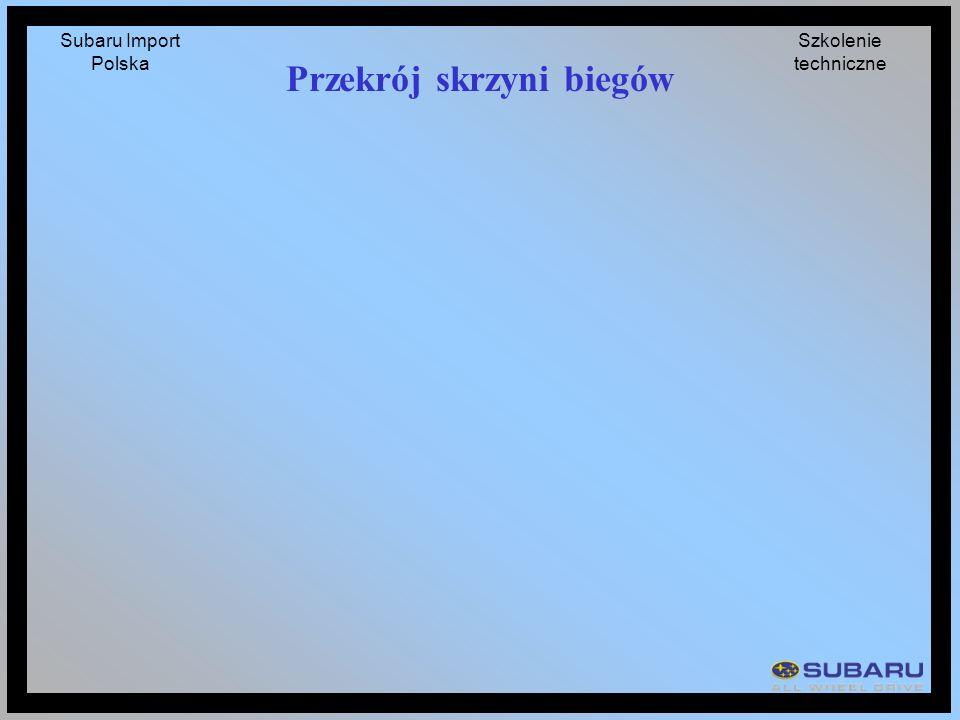 Subaru Import Polska Szkolenie techniczne Przekrój skrzyni biegów