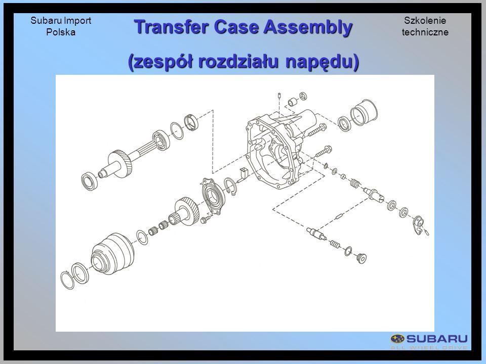 Subaru Import Polska Szkolenie techniczne Transfer Case Assembly (zespół rozdziału napędu)