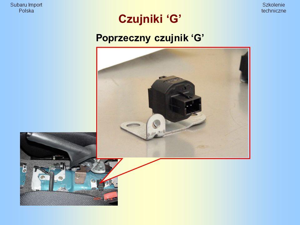 Szkolenie techniczne Subaru Import Polska Czujniki G Poprzeczny czujnik G