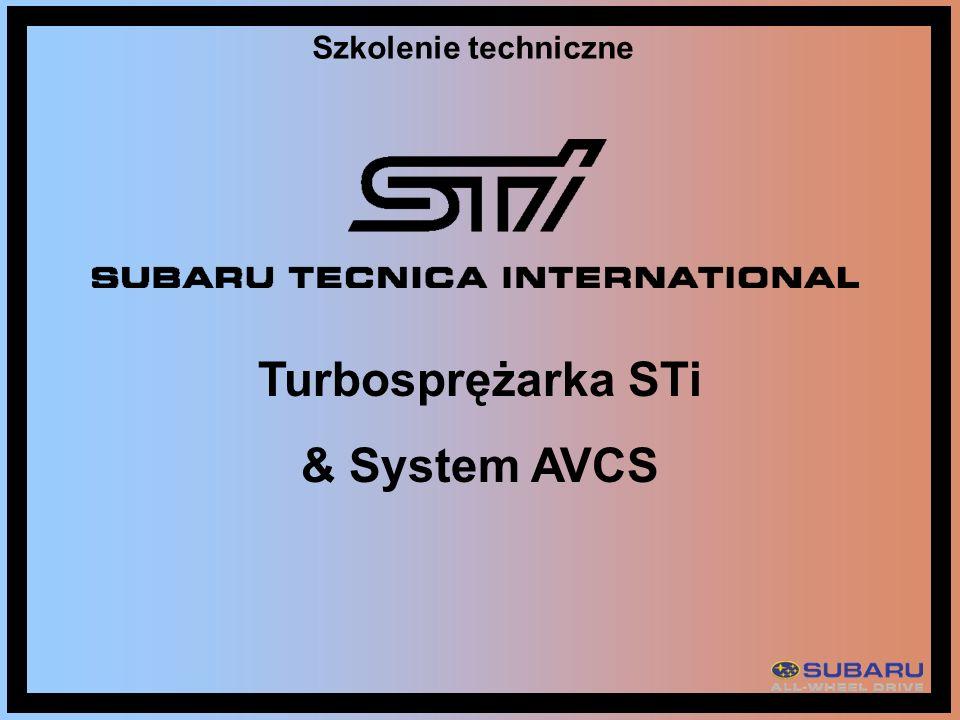 Szkolenie techniczne Turbosprężarka STi & System AVCS
