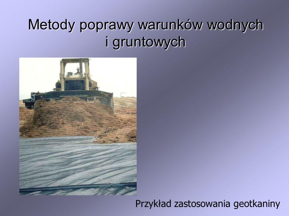 Przykład zastosowania geotkaniny