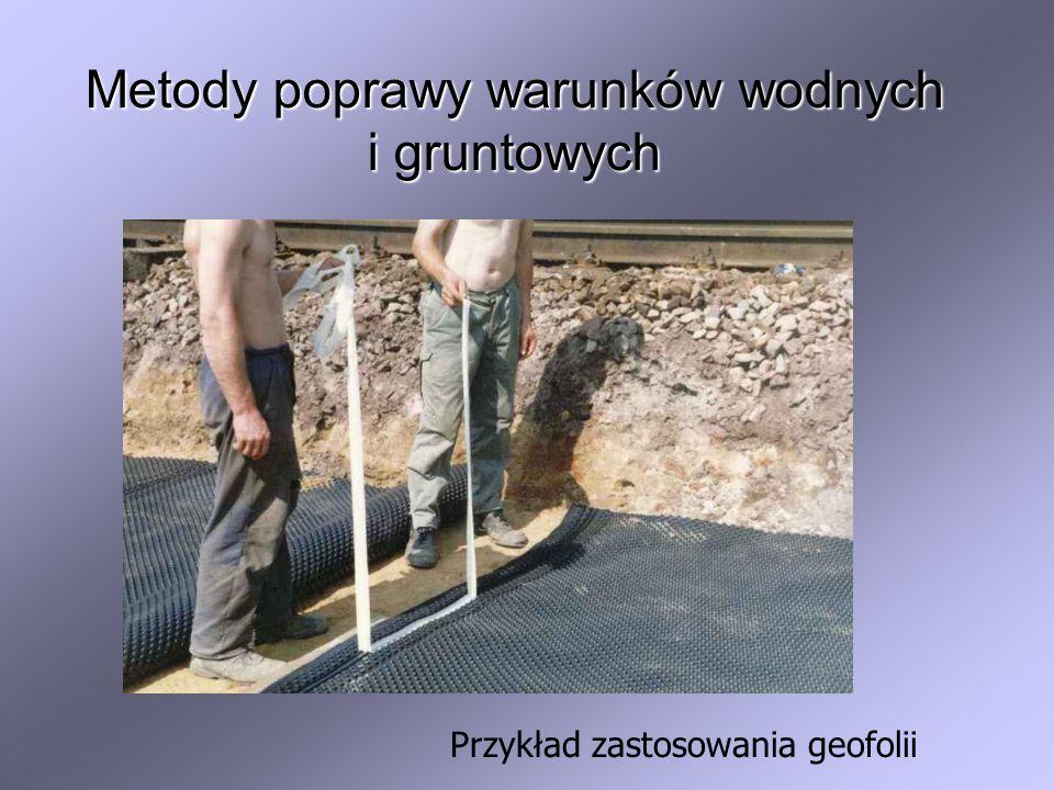 Metody poprawy warunków wodnych i gruntowych Przykład zastosowania geofolii