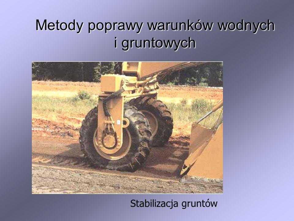 Metody poprawy warunków wodnych i gruntowych Stabilizacja gruntów