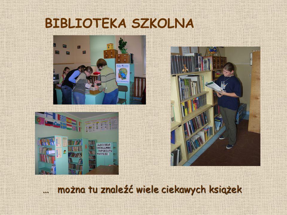 … można tu znaleźć wiele ciekawych książek BIBLIOTEKA SZKOLNA