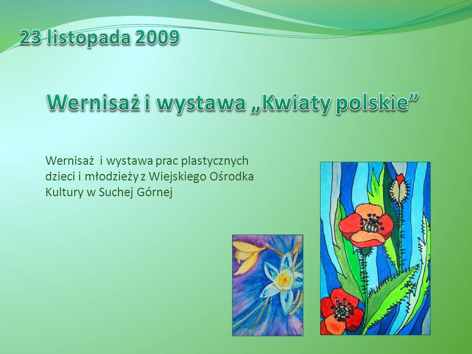 Wernisaż i wystawa prac plastycznych dzieci i młodzieży z Wiejskiego Ośrodka Kultury w Suchej Górnej