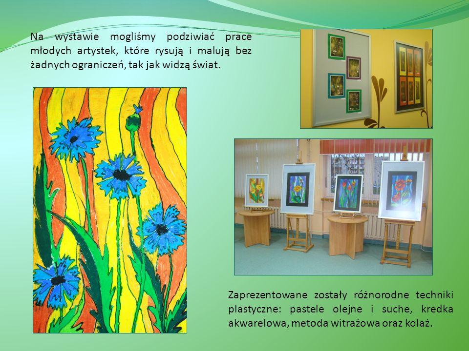 Na wystawie mogliśmy podziwiać prace młodych artystek, które rysują i malują bez żadnych ograniczeń, tak jak widzą świat.