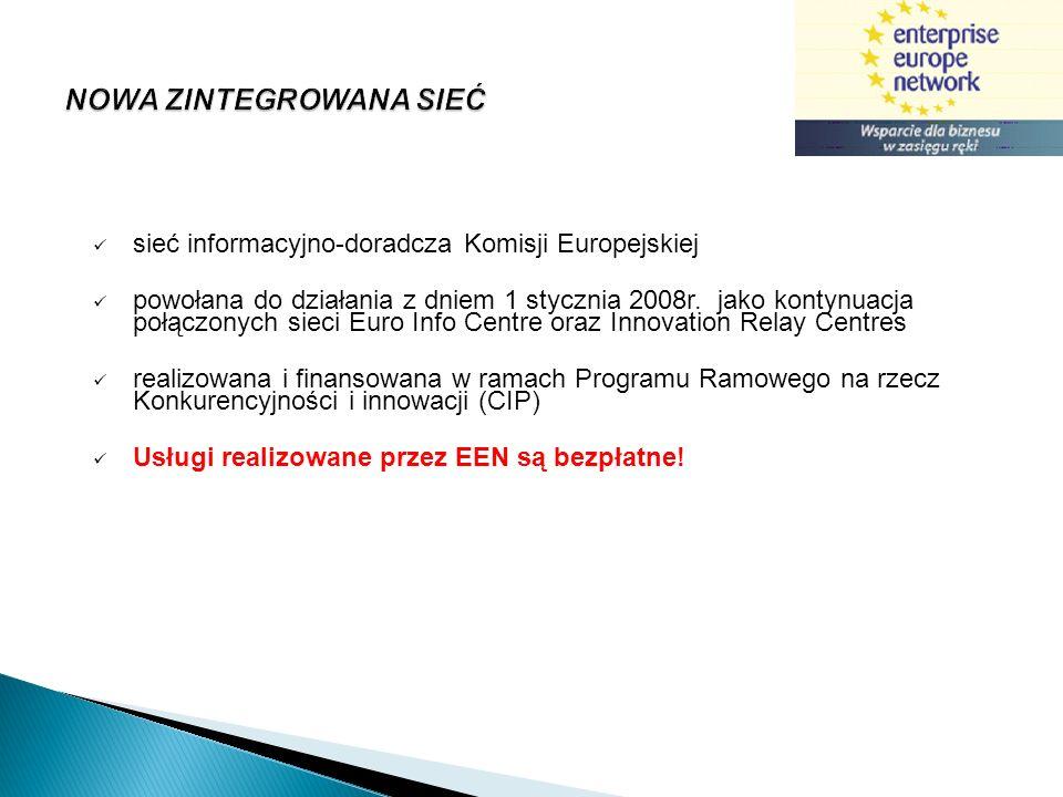 600 ośrodków informacyjno – doradczych lokalizacja w 40 krajach Europy i świata, w tym: wszystkie państwa członkowskie UE, Turcja, Chile, Islandia, Norwegia, Szwajcaria, Izrael, Armenia, Macedonia, Chorwacja 3 000 specjalistów największa na świecie sieć wspierająca biznes