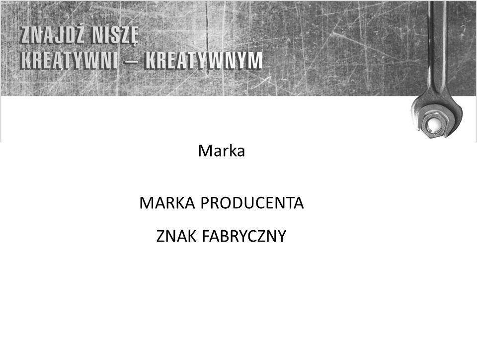 Marka MARKA PRODUCENTA ZNAK FABRYCZNY