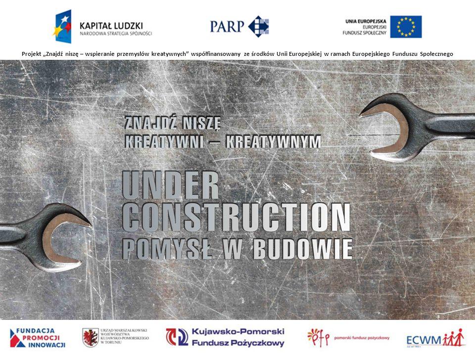 Projekt Znajdź niszę – wspieranie przemysłów kreatywnych współfinansowany ze środków Unii Europejskiej w ramach Europejskiego Funduszu Społecznego
