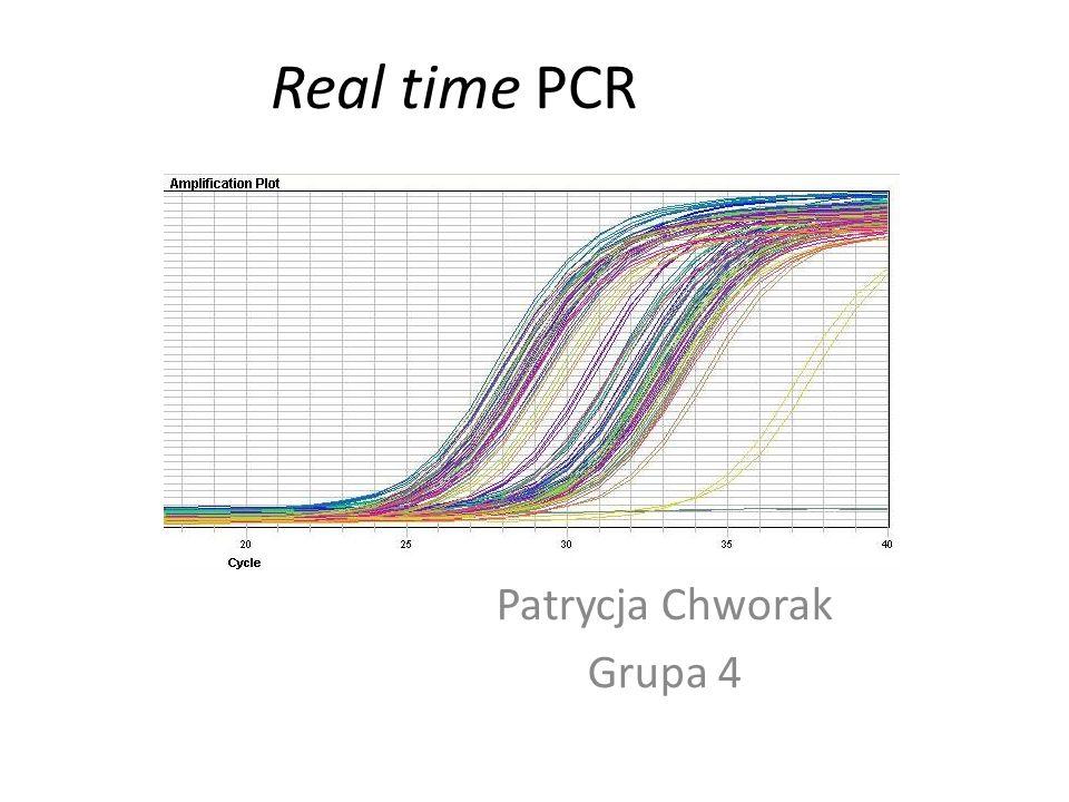 Real time PCR Patrycja Chworak Grupa 4