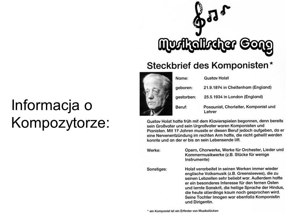 Informacja o Kompozytorze:
