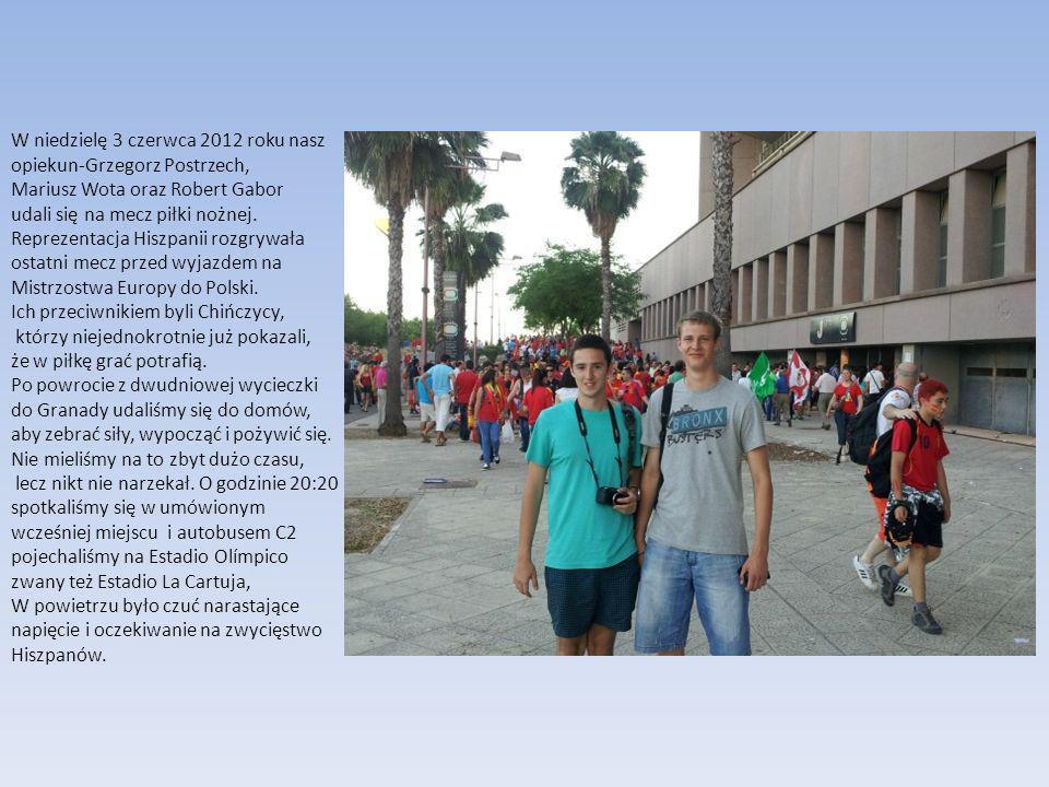 W niedzielę 3 czerwca 2012 roku nasz opiekun-Grzegorz Postrzech, Mariusz Wota oraz Robert Gabor udali się na mecz piłki nożnej.