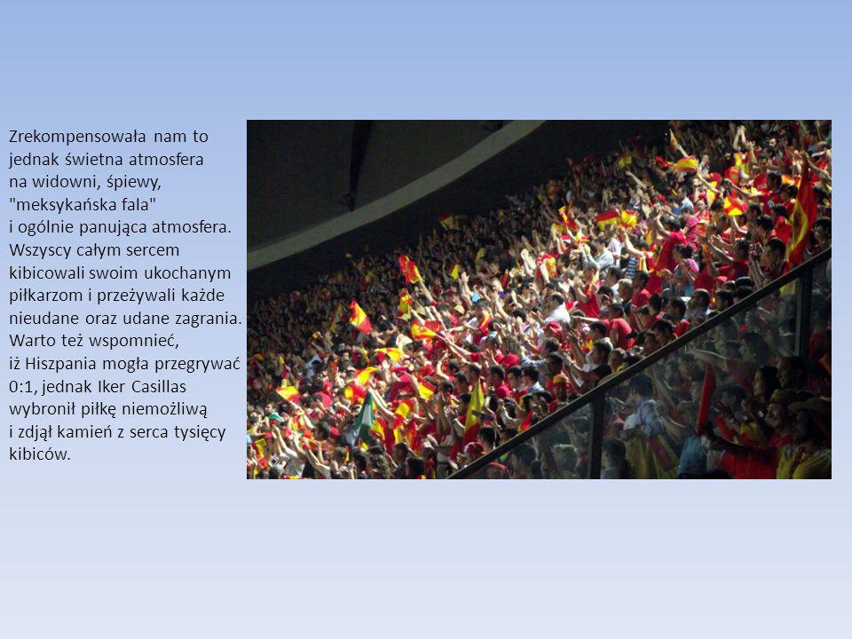Pierwsza połowa zakończyła się wynikiem remisowym 0:0, lecz wiadomym było, że trener La Furia Roja – Vicente del Bosque, dokona kilku roszad w składzie.