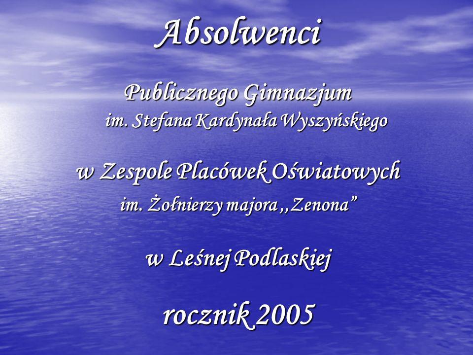 Klasa A wychowawstwo: p.Anna Machuła 1. Bagłaj Katarzyna 2.