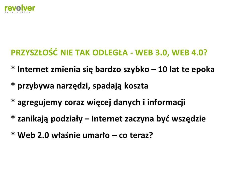 PRZYSZŁOŚĆ NIE TAK ODLEGŁA - WEB 3.0, WEB 4.0.