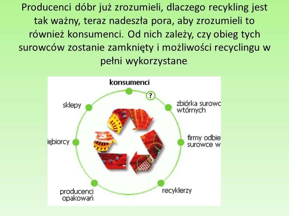 Producenci dóbr już zrozumieli, dlaczego recykling jest tak ważny, teraz nadeszła pora, aby zrozumieli to również konsumenci. Od nich zależy, czy obie