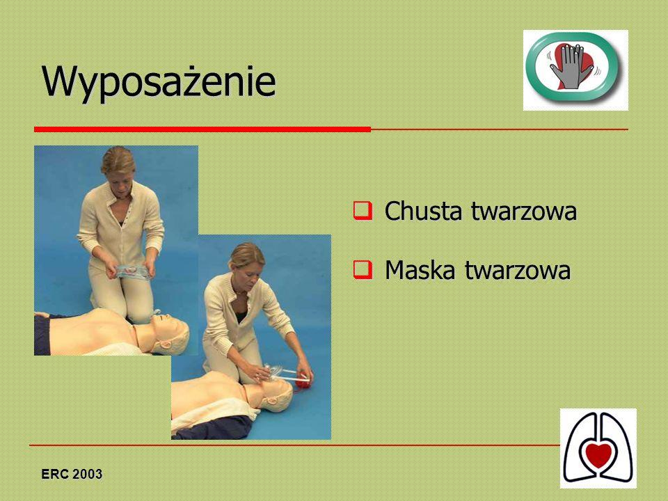 ERC 2003 Wyposażenie Chusta twarzowa Chusta twarzowa Maska twarzowa Maska twarzowa