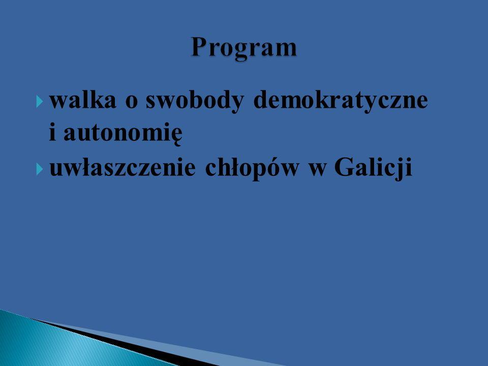 walka o swobody demokratyczne i autonomię uwłaszczenie chłopów w Galicji