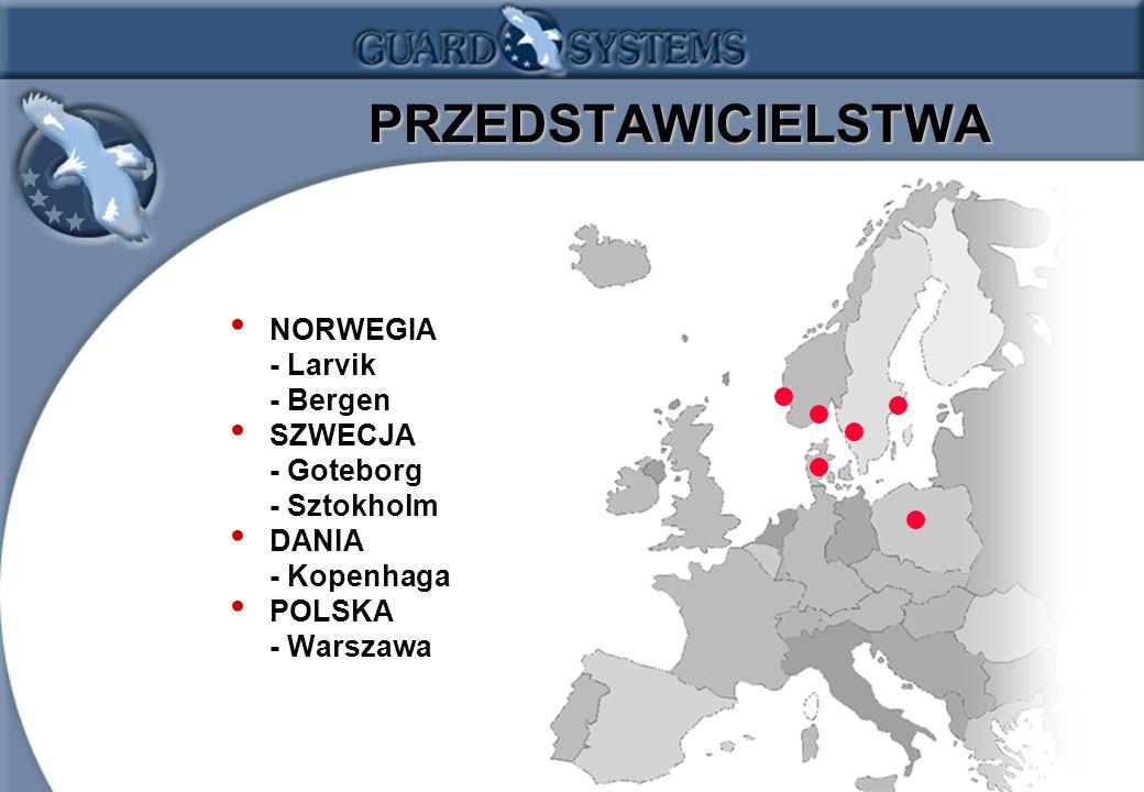 1.5 PRZEDSTAWICIELSTWA PRZEDSTAWICIELSTWA NORWEGIA - Larvik - Bergen SZWECJA - Goteborg - Sztokholm DANIA - Kopenhaga POLSKA - Warszawa