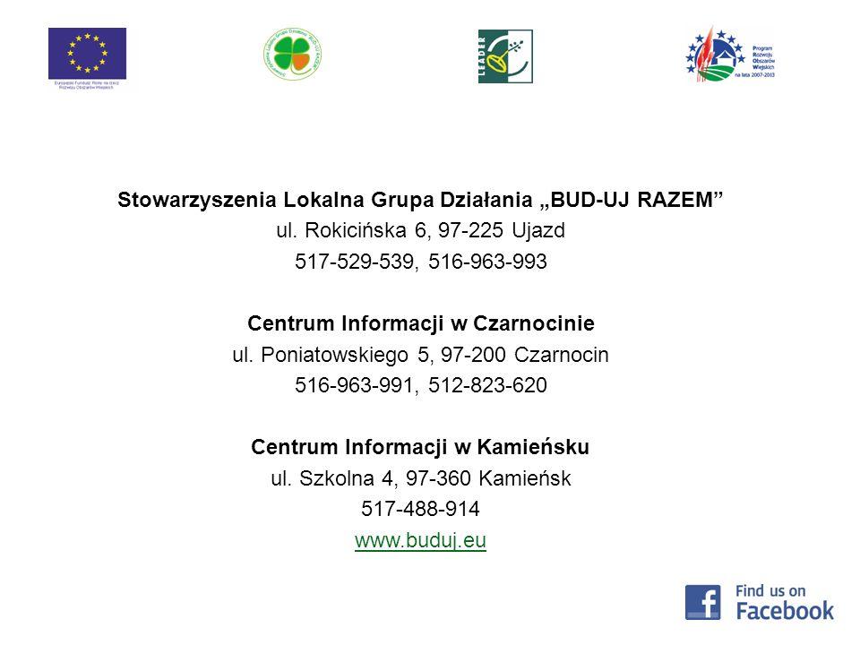 Stowarzyszenia Lokalna Grupa Działania BUD-UJ RAZEM ul.