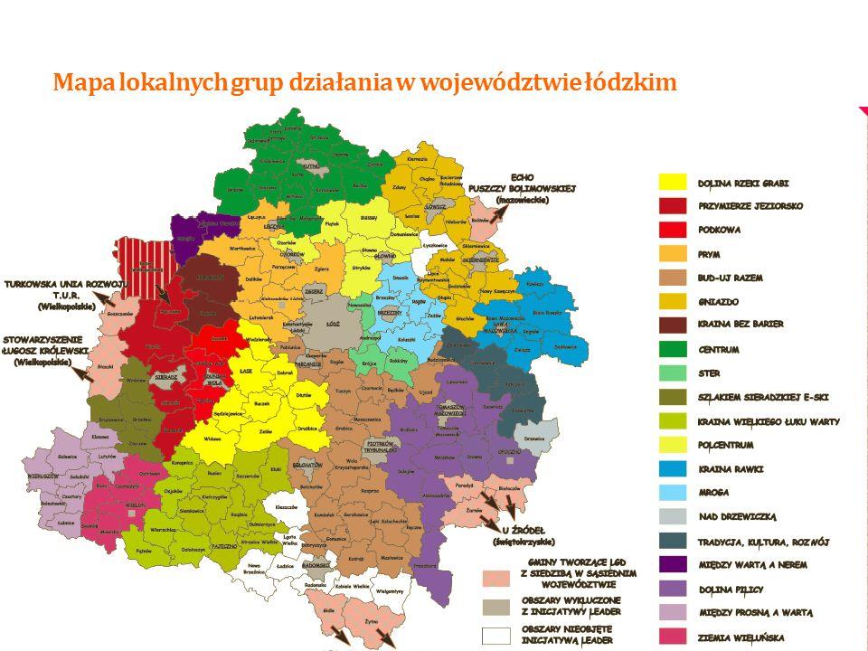 Mapa lokalnych grup działania w województwie łódzkim 3