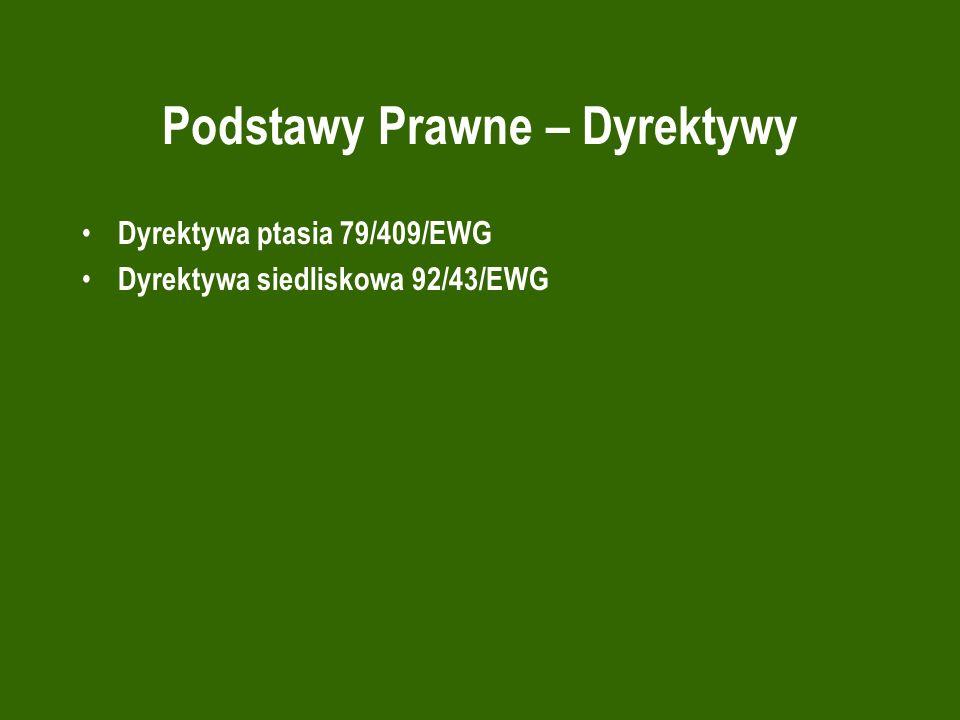Podstawy Prawne – Dyrektywy Dyrektywa ptasia 79/409/EWG Dyrektywa siedliskowa 92/43/EWG