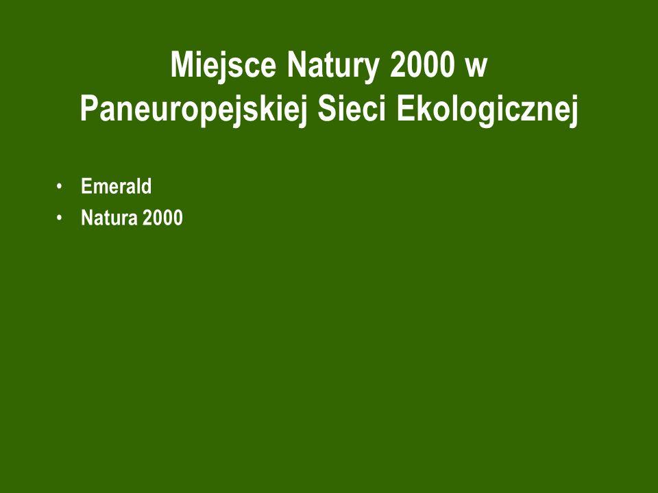 Miejsce Natury 2000 w Paneuropejskiej Sieci Ekologicznej Emerald Natura 2000