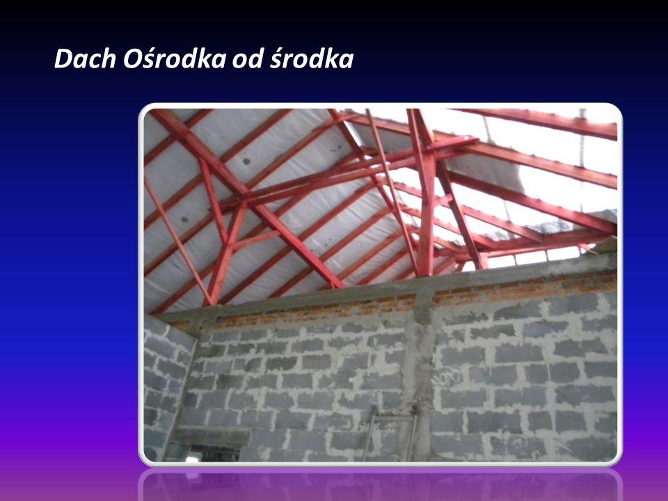 Dach Ośrodka od środka
