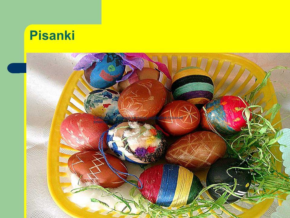 Pisanki Jajko Symbol odradzającego się życia i zwycięstwa życia nad śmiercią.