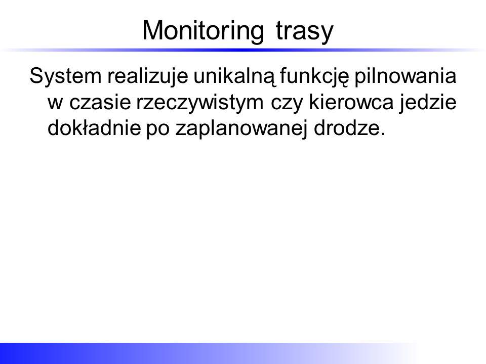 Monitoring trasy Trasa przez Grójec aby ominąć Warszawę Włączamy monitoring: aktywny od kiedy do kiedy i włączamy kontrolę