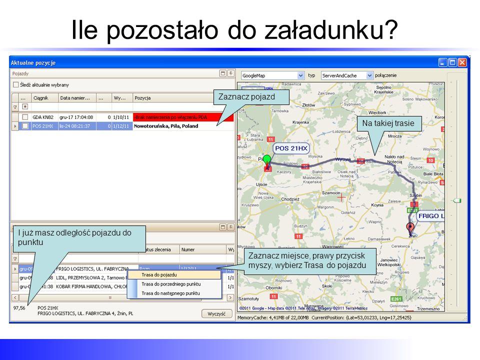 Przeglądanie trasy za okres Przeglądanie trasy historycznej za okres