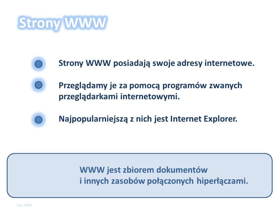 WWW jest zbiorem dokumentów i innych zasobów połączonych hiperłączami.