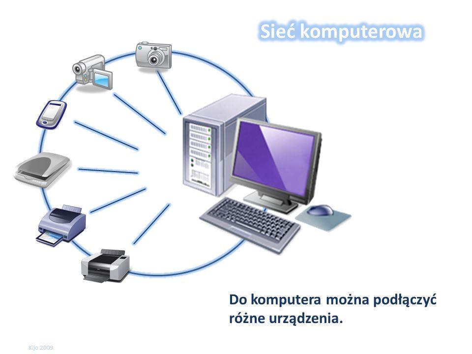 Do komputera można podłączyć różne urządzenia. Kijo 2009