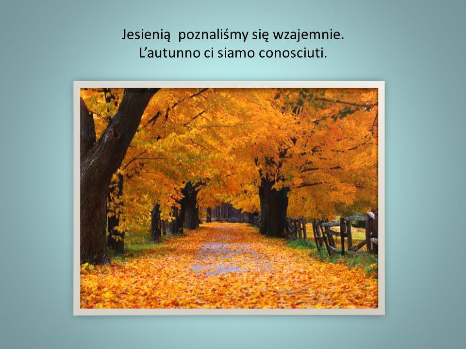 Jesienią poznaliśmy się wzajemnie. Lautunno ci siamo conosciuti.