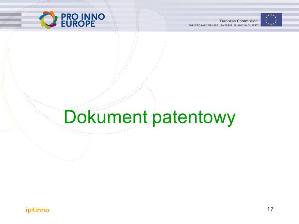ip4inno 17 Dokument patentowy