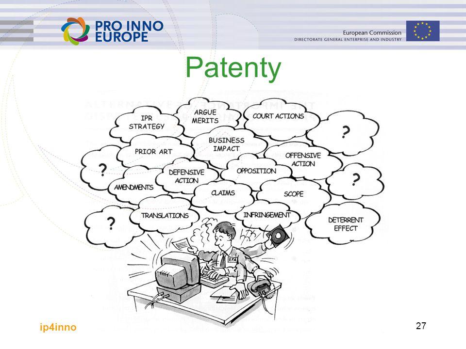 ip4inno 27 Patenty