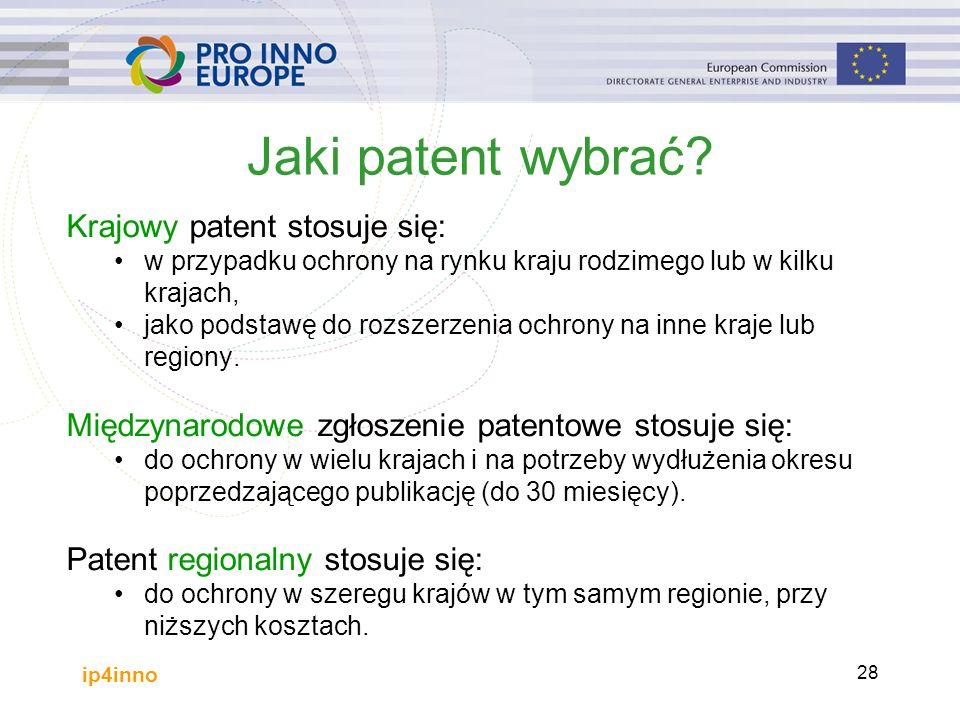 ip4inno 28 Jaki patent wybrać.