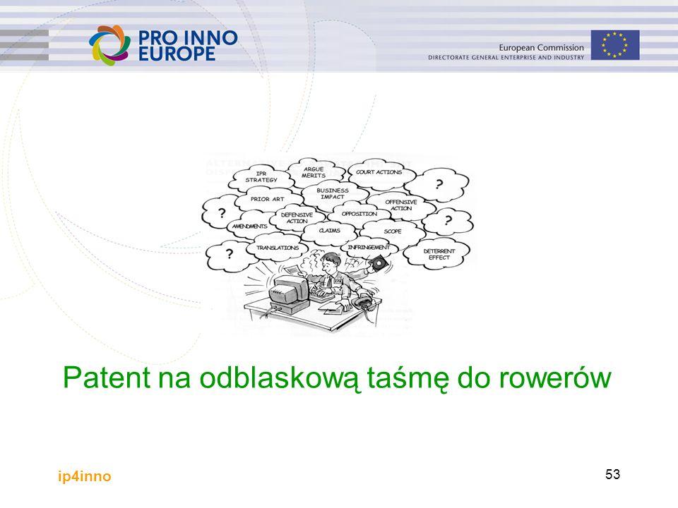 ip4inno 53 Øvelse Patent na odblaskową taśmę do rowerów
