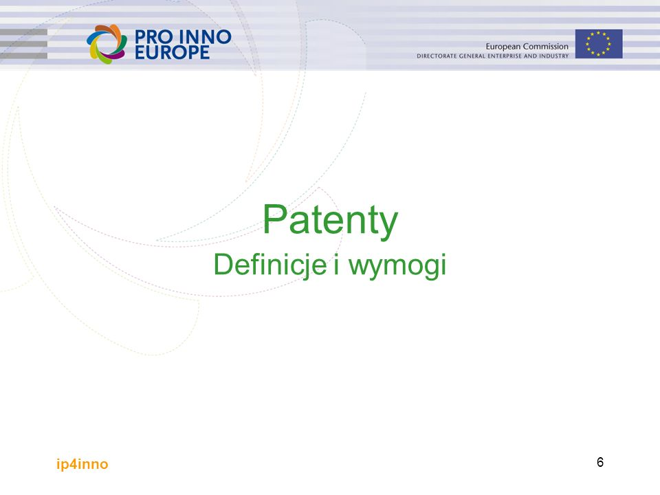 ip4inno 6 Patenty Definicje i wymogi
