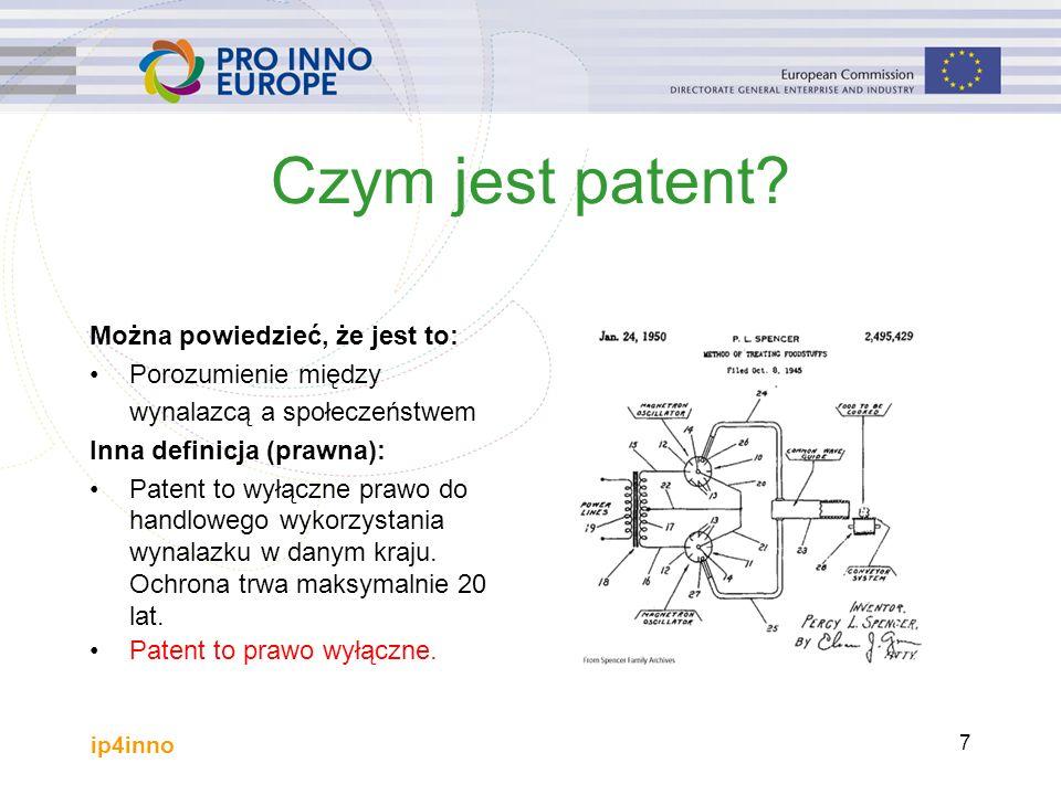 ip4inno 7 Czym jest patent.