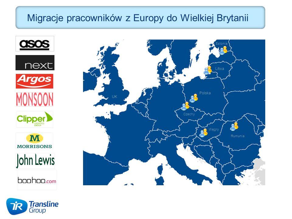 Migracje pracowników z Europy do Wielkiej Brytanii Rumunia Polska Czechy Estonia Litwa Węgry UK
