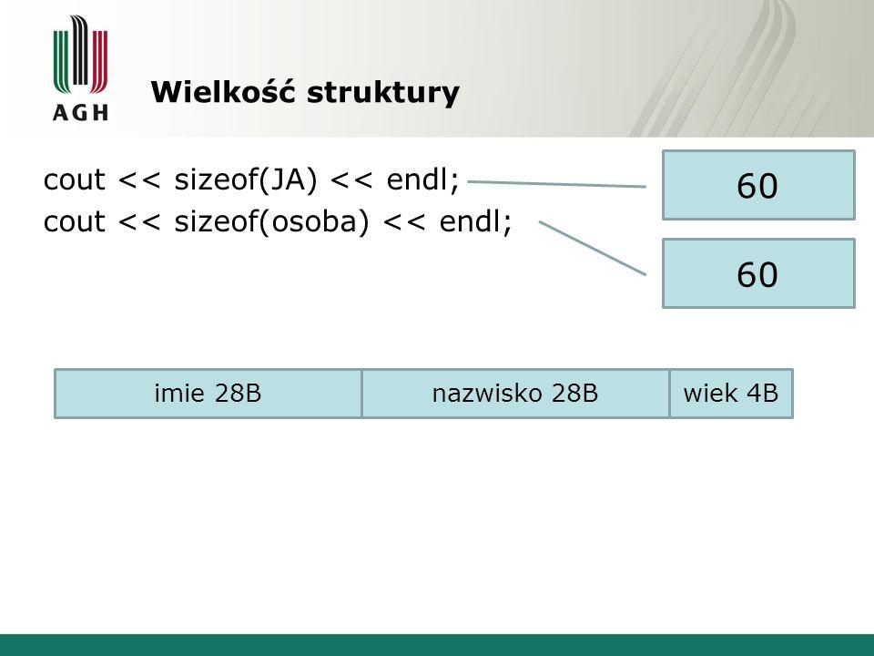 Stałe obiekty struct ob { double w_x,w_y; string kol; void wypisz() const; void przesun(double, double); void pomaluj(string kolor) const; }; void ob::pomaluj(string kolor) const {kol=kolor;} void ob::wypisz() const { cout<< x = <<w_x<<endl; cout<< y = <<w_y<<endl; cout<< kolor: <<kol<<endl;} void ob::przesun(double a, double b) {w_x+=a;w_y+=b;} int main() { ob samochod={1,1, szary }; const ob dom={2,2, zielony }; samochod.przesun(1,2); samochod.wypisz(); dom.pomaluj( czerwony ); dom.wypisz(); return 0; } BŁĄD