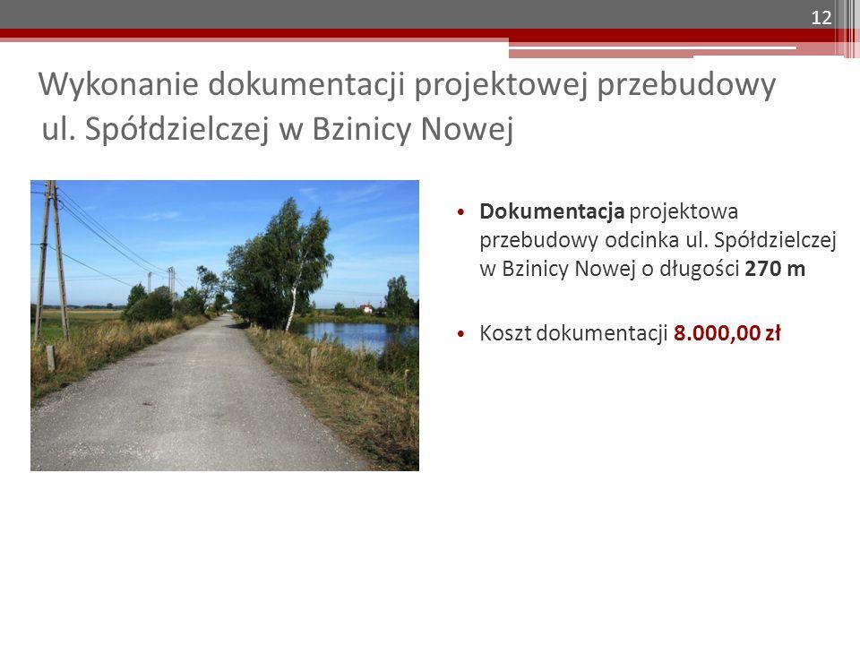 Wykonanie dokumentacji projektowej przebudowy ul.